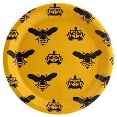 Queen Bee Yellow Dinner Plate (8)