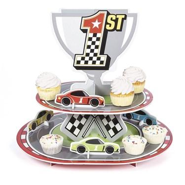 Racecar Birthday Cupcake Stand