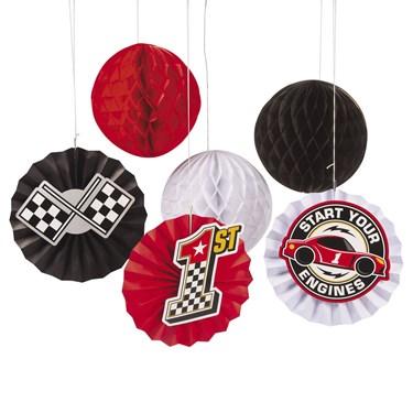 Racecar Birthday Hanging Fans(12)