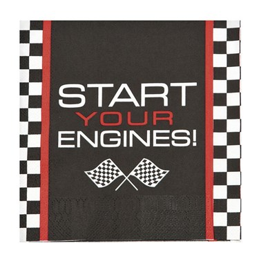 Racecar Checker Lunch Napkin (16)