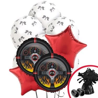Racecar Racing Party Balloon Bouquet