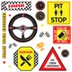 Alt. Image (1) - Racecar Racing Party Small Wall Decal