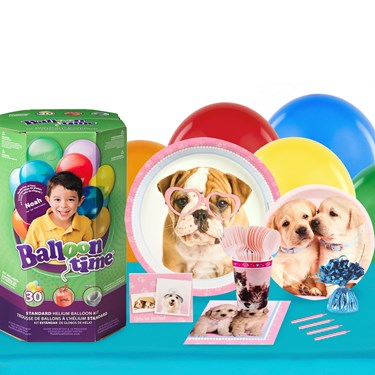 Rachael Hale Glamour Dogs 16 Guest Party Pack and Helium Kit