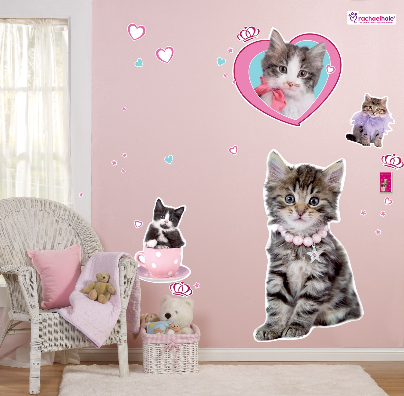 rachaelhale glamour cats giant wall decals cat collection wall sticker wall stickers