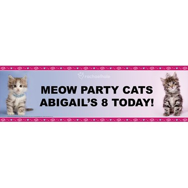 rachaelhale Glamour Cats Personalized Vinyl Banner