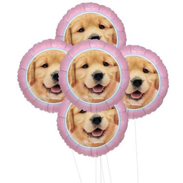 Rachaelhale Glamour Dogs 5pc Foil Balloon Kit