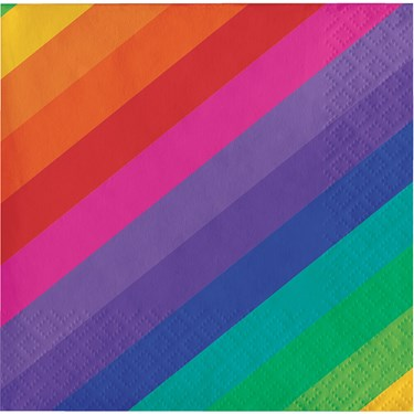 Rainbow Beverage Napkins(16)
