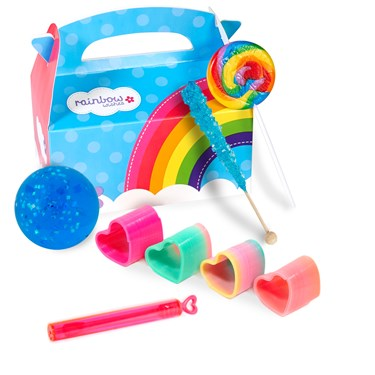Rainbow Birthday Filled Party Favor Box (4-Pack)