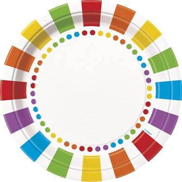 Rainbow Party Dinner Plates (8)
