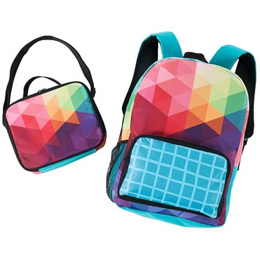 Rainbow Fractal Backpack & Lunch Tote