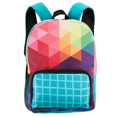 Rainbow Fractal Canvas Backpack