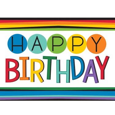 Rainbow Happy Birthday Plastic Table Cov