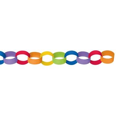 Rainbow Paper Chain Link Garland