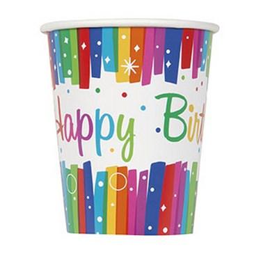 Rainbow Ribbons Birthday 9oz. Cup (8)