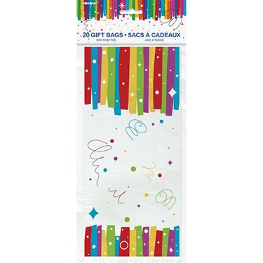 "Rainbow Ribbons Birthday Cello Bag 5""X11"" (20)"