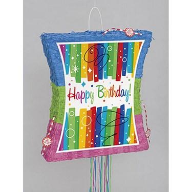 Rainbow Ribbons Birthday Popout Pinata