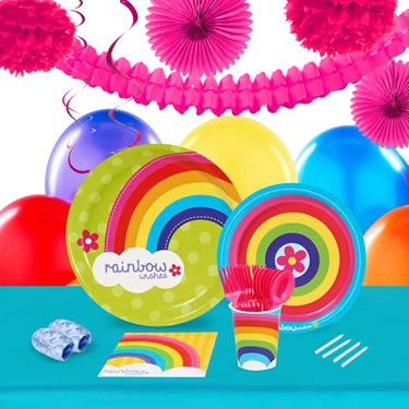 Rainbow Wishes 16 Guest Tableware & Deco Kit