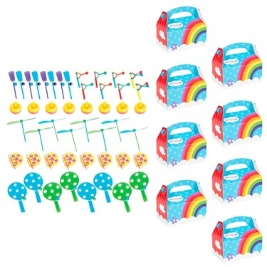 Rainbow Wishes Filled Favor Box Kit  (For 8 Guests)