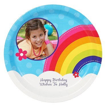 Rainbow Wishes Personalized Dinner Plates (8)
