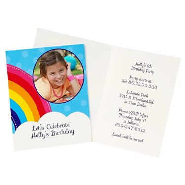 Rainbow Wishes Personalized Invitations (8)