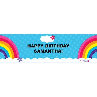 Rainbow Wishes Personalized Vinyl Banner