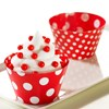 Red and White Polka Dots Reversible Cupcake Wrappers