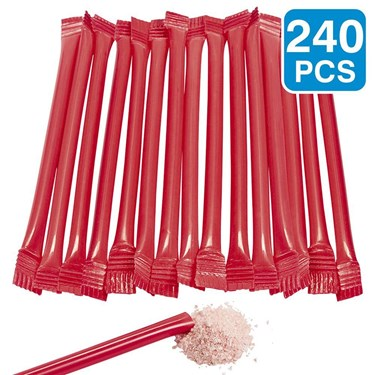 Red Candy Filled 6 Straws (240 Pack)