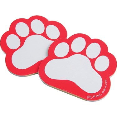 Red Or Blue Paw Print Memo Pad (12)