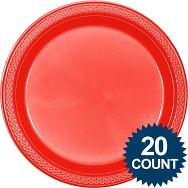 Red Plastic Plates
