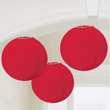 Red Round Paper Lanterns (3)