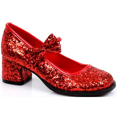 Red Sequin Heels For Girls