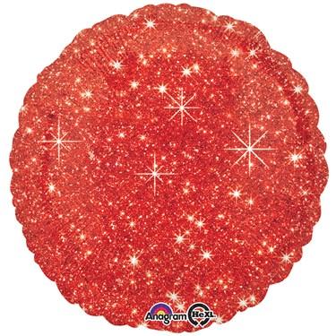 "Red Sparkle 17"" Balloon"