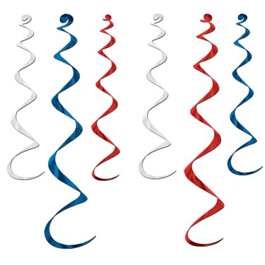 Red, White, and Blue Whirls
