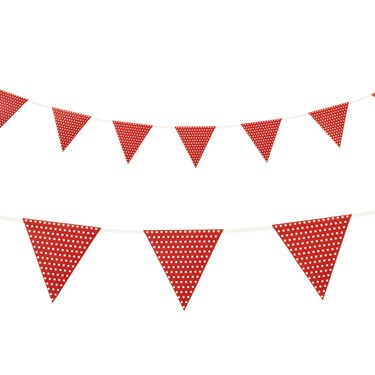 Red with Polka Dots - Paper Flag Banner (1)