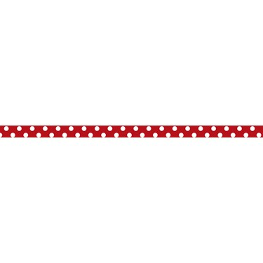 "Red with White Polka Dots Grosgrain Ribbon (3/8"")"