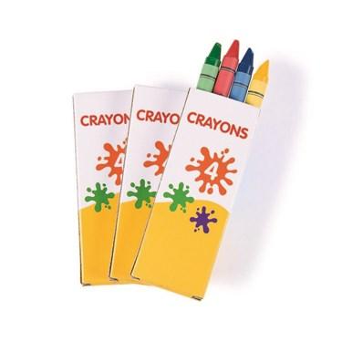 Regular 4 Pc Crayons (12 Boxes)