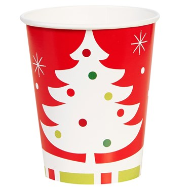 Reindeer Christmas Party 9 oz Cups