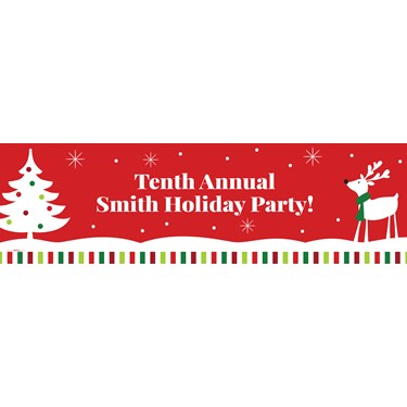 Reindeer Christmas PartyText Banner