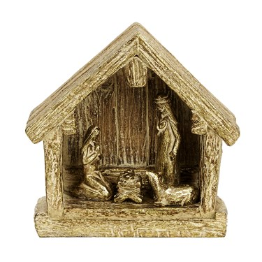 Resin Gold Nativity Creche