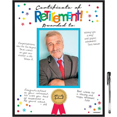 Retirement Autograph Board (1)