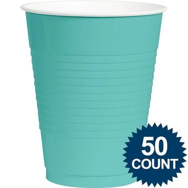 Robins Egg Blue Plastic 16oz. Cups (50)
