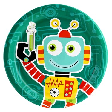 Robot Science Dinner Plates