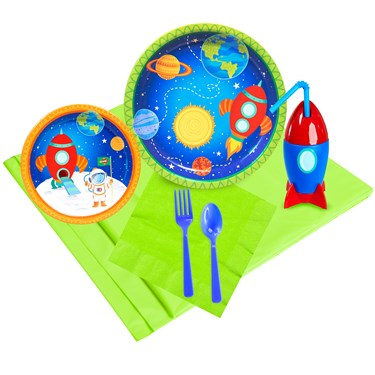 Rocket To Space 16 pc Guest Pack Plus Molded Cups