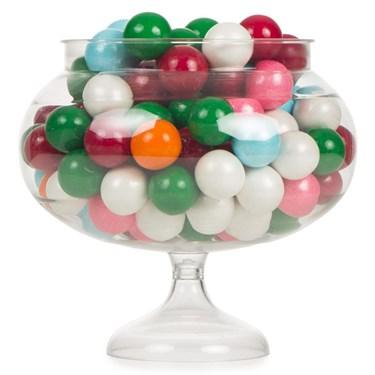Round Pedestal Jar Plastic Container (1)