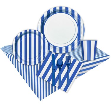 Royal Blue Stripe Party Pack