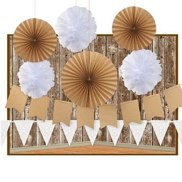 Rustic Backdrop Decoration Kit