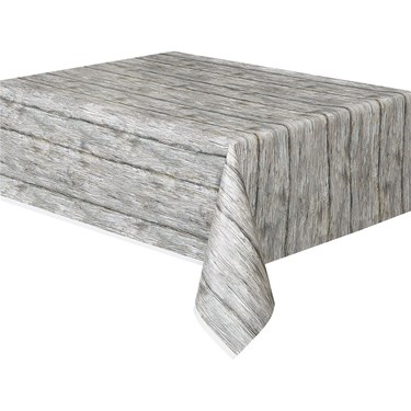 Rustic Wood Printed Table Cover (1)