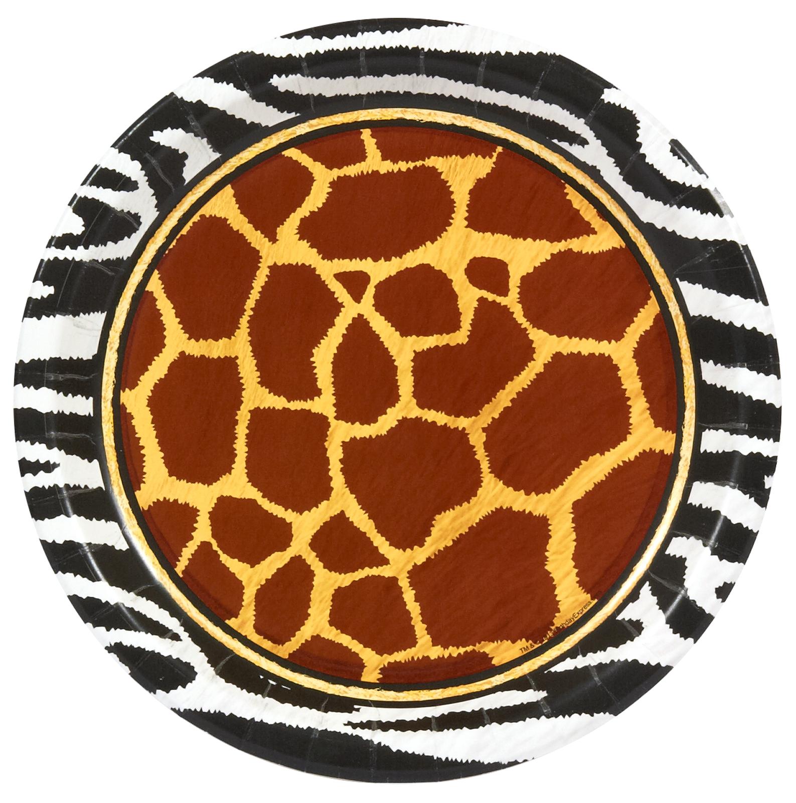 Safari Animal Adventure Dinner Plates  sc 1 st  Birthday Express & Animal Print Party Supplies | BirthdayExpress.com