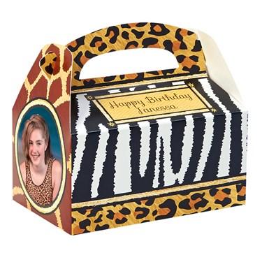 Safari Animal Adventure Personalized Empty Favor Boxes (8)