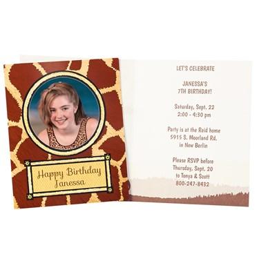 Safari Animal Adventure Personalized Invitations (8)